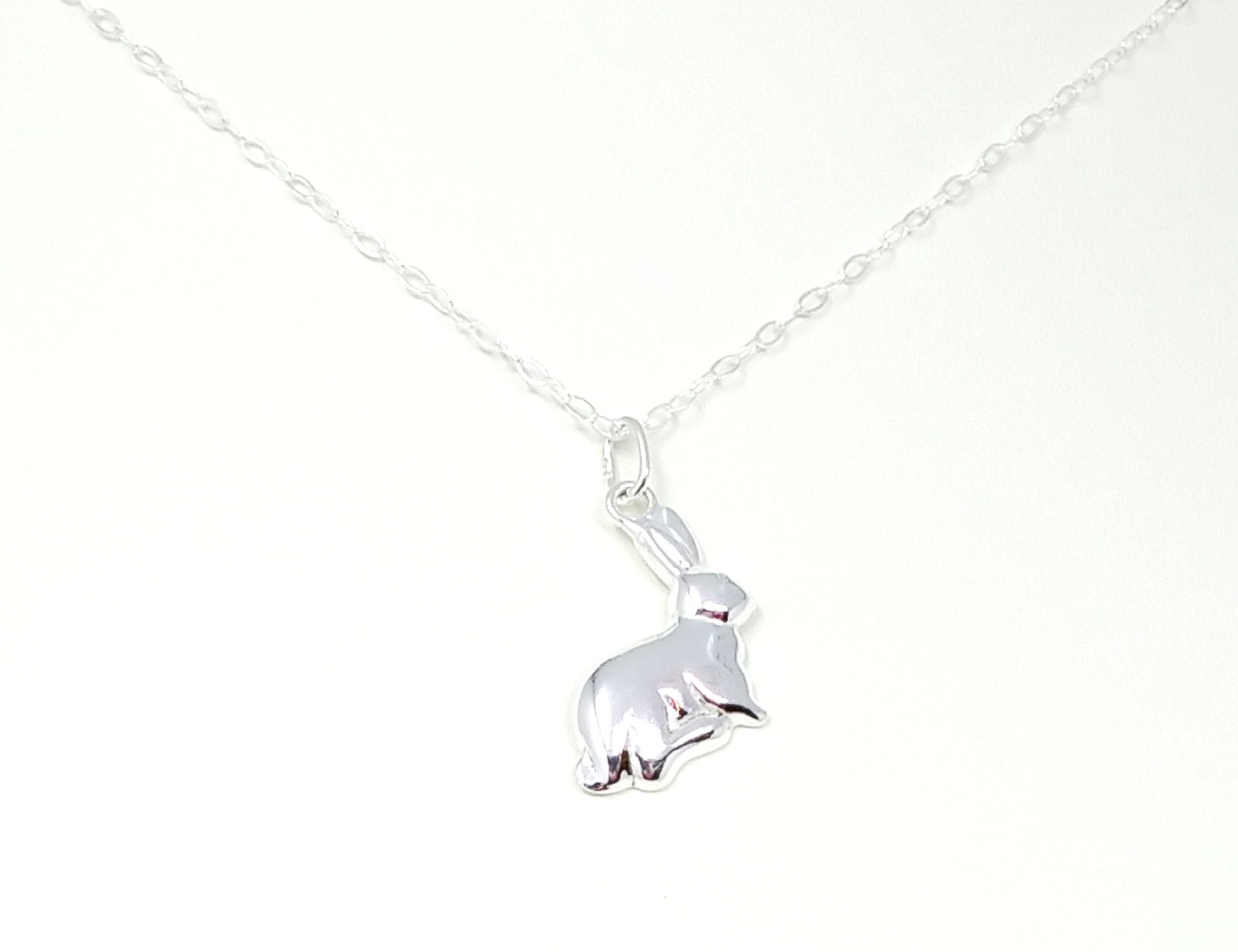 EASTER BUNNY RABBIT NECKLACE GIFT IN BOX,
