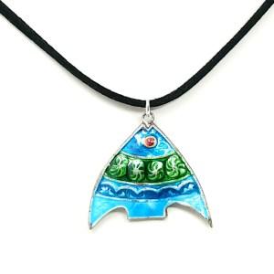 Cloisonne Fish Necklace