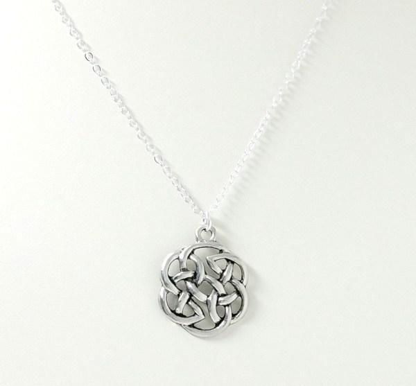 round celtic knot necklace