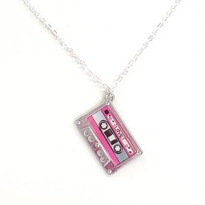 Mixed Tape Cassette Necklace