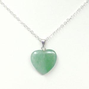 Green Aventurine Heart Necklace