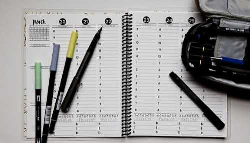 Planner & Tombow pens
