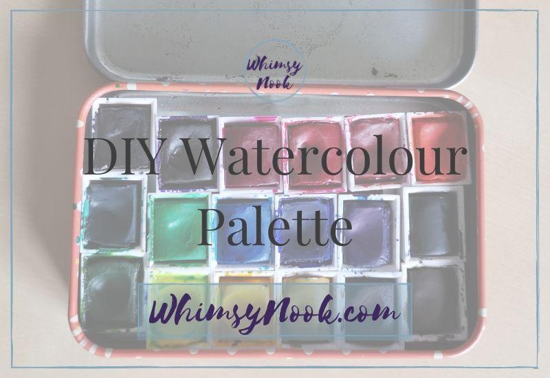 DIY Watercolour Palette Cover Title