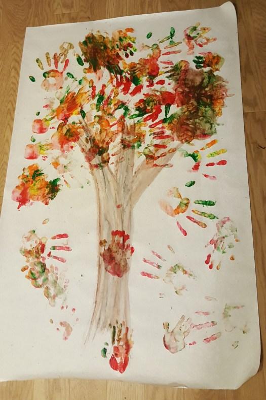 Handprint Tree Fall Activity