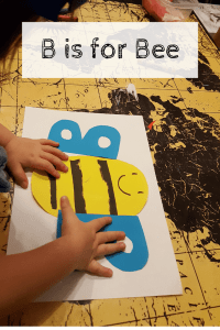 Alphabet Craft Letter B as a Bee