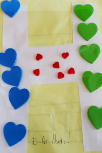 Alphabet Craft the letter H covered in Hearts