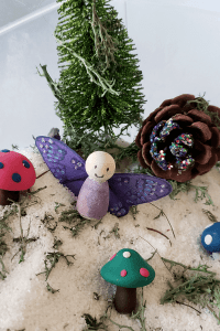 fairy themed sensory bin