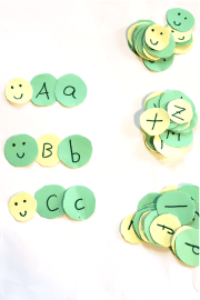 Caterpillar Uppercase and Lowercase Matching Activity