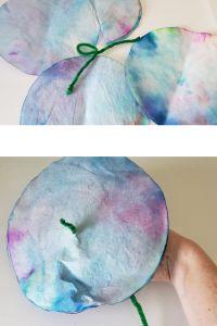 coffee filter paper flower craft
