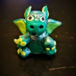 Clay Dragon Figurine