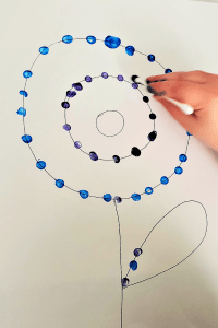 qtip painting idea for kids