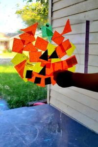 Pumpkin Contact Paper Halloween Craft