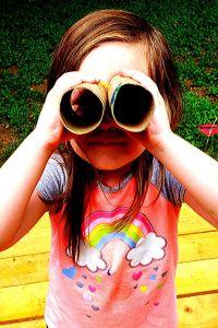 cardboard tube binoculars