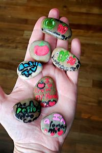 Rock Painting Collaborative Art