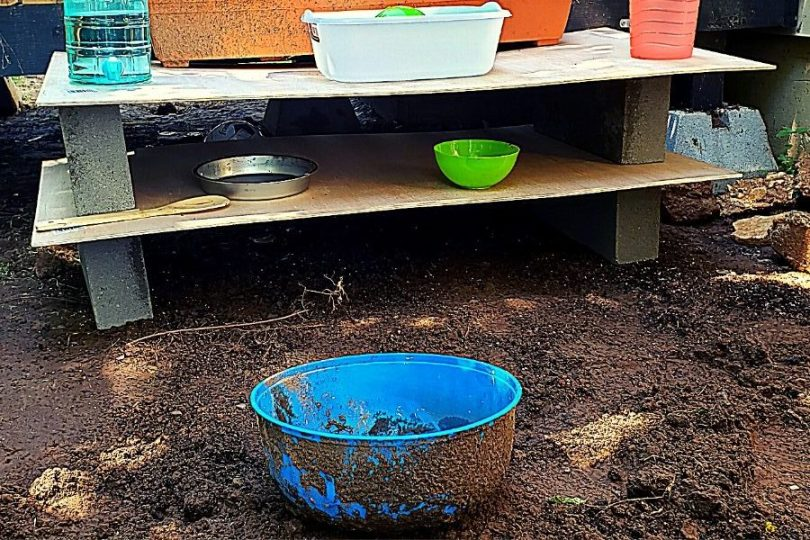 mud kitchen workspace