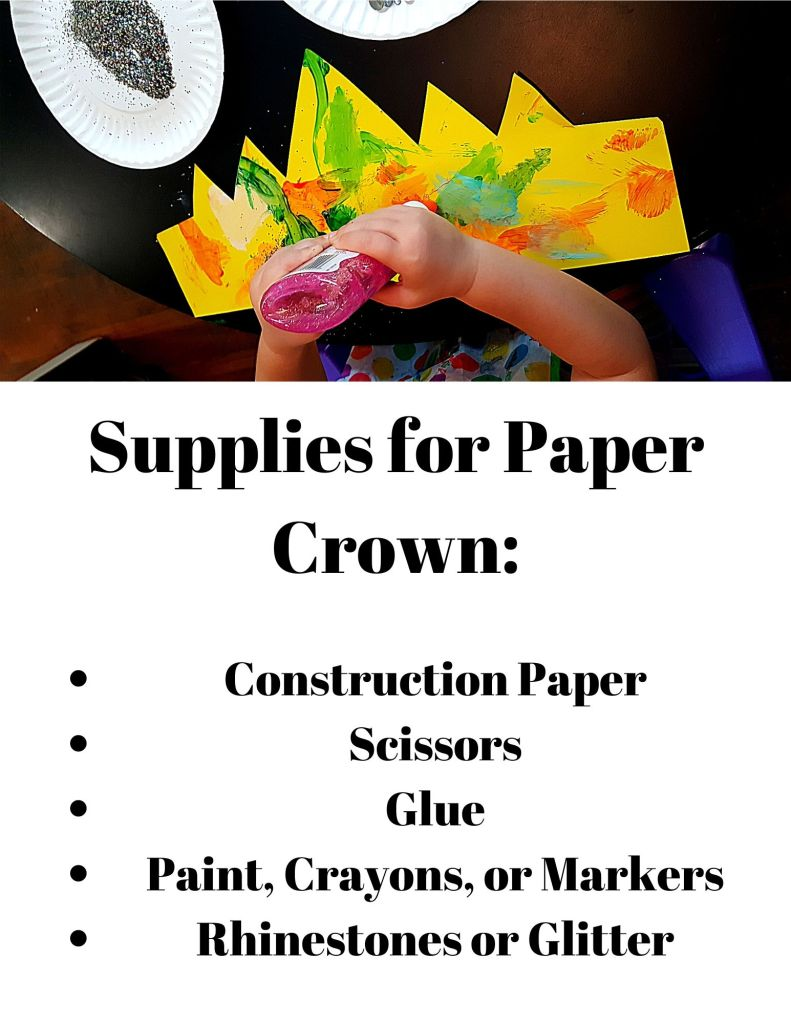 Supplies for Paper Crown