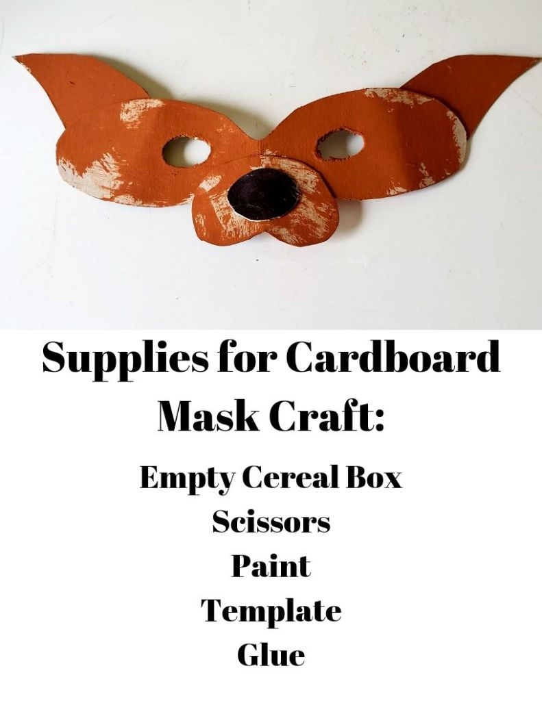 Supplies for cardboard mask