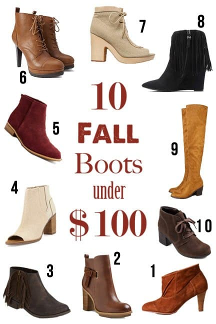 10 Fall Boots Under $100