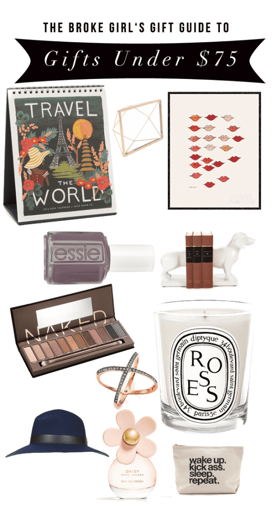 A Broke Girl's Gift Guide: Gifts Under $75