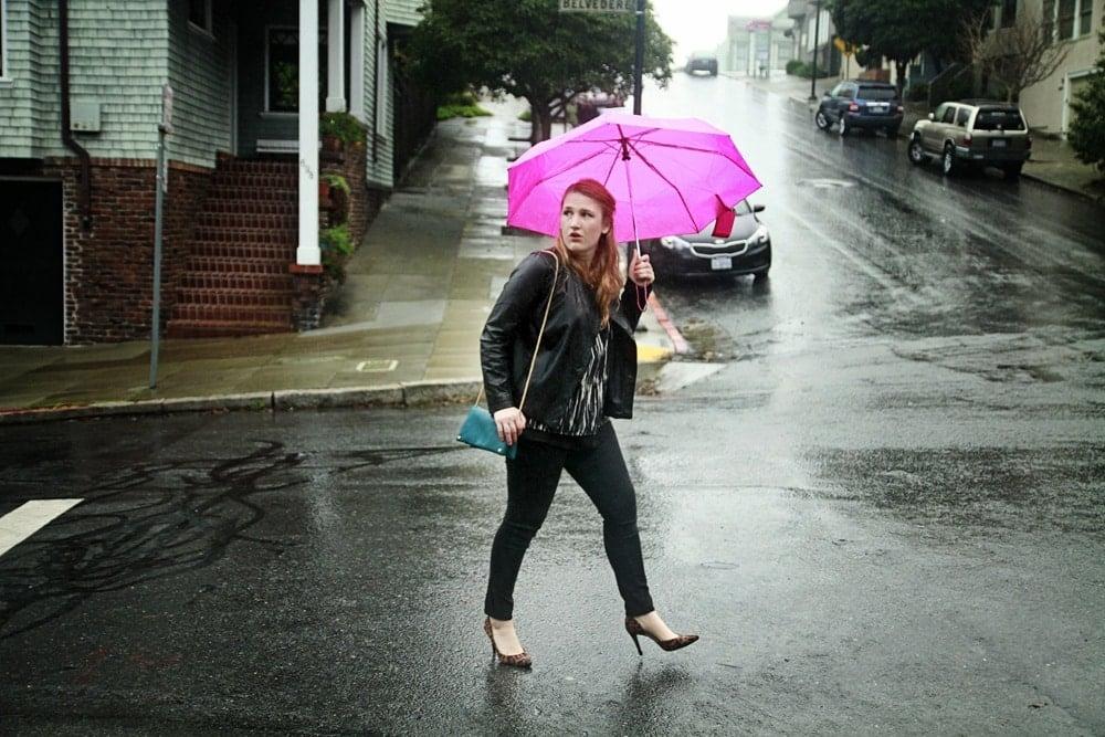 When Caught In The Rain