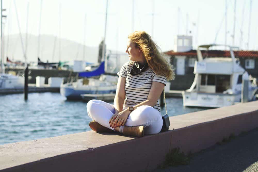 Lou & Grey Pants. At the Marina in San Francisco