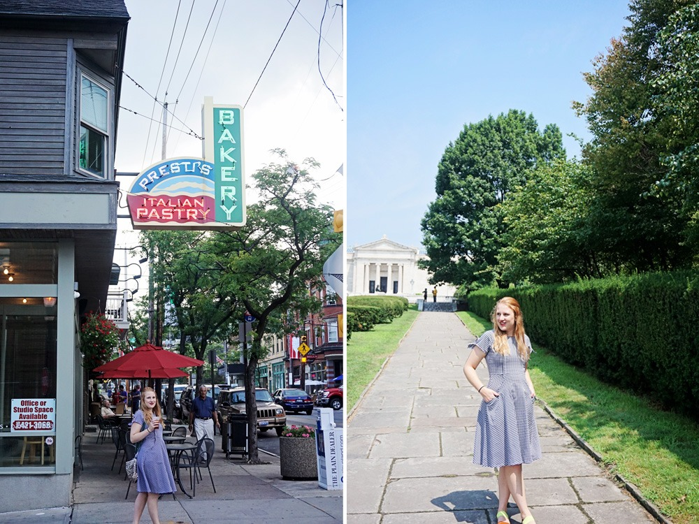 Little Italy in Cleveland and Shabby Apple dress