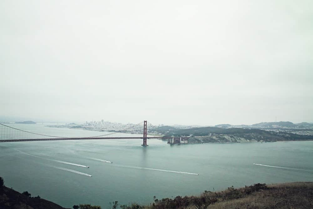 Golden Gate Bridge View in Marin Headlands