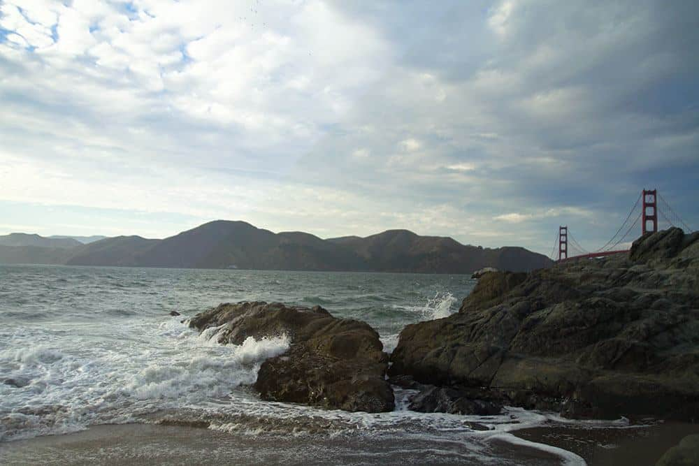 Baker's Beach view of Golden Gate bridge