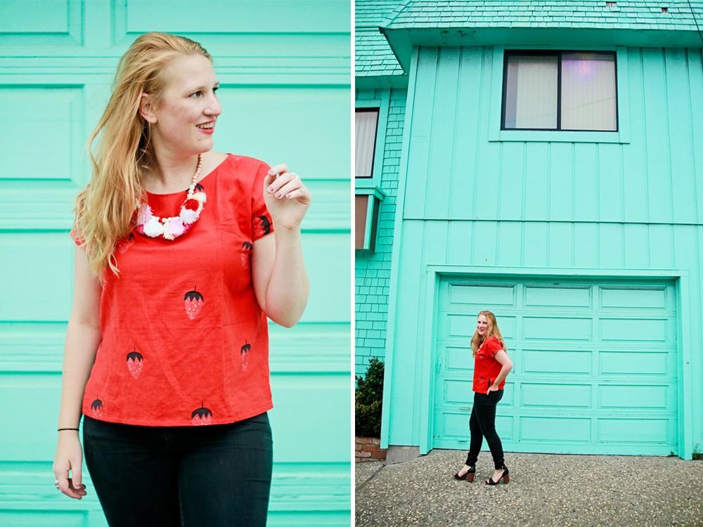 Jenny Lemons strawberry shirt