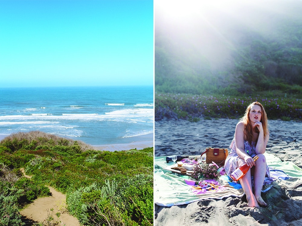 Picnic at Tunitas Beach, California