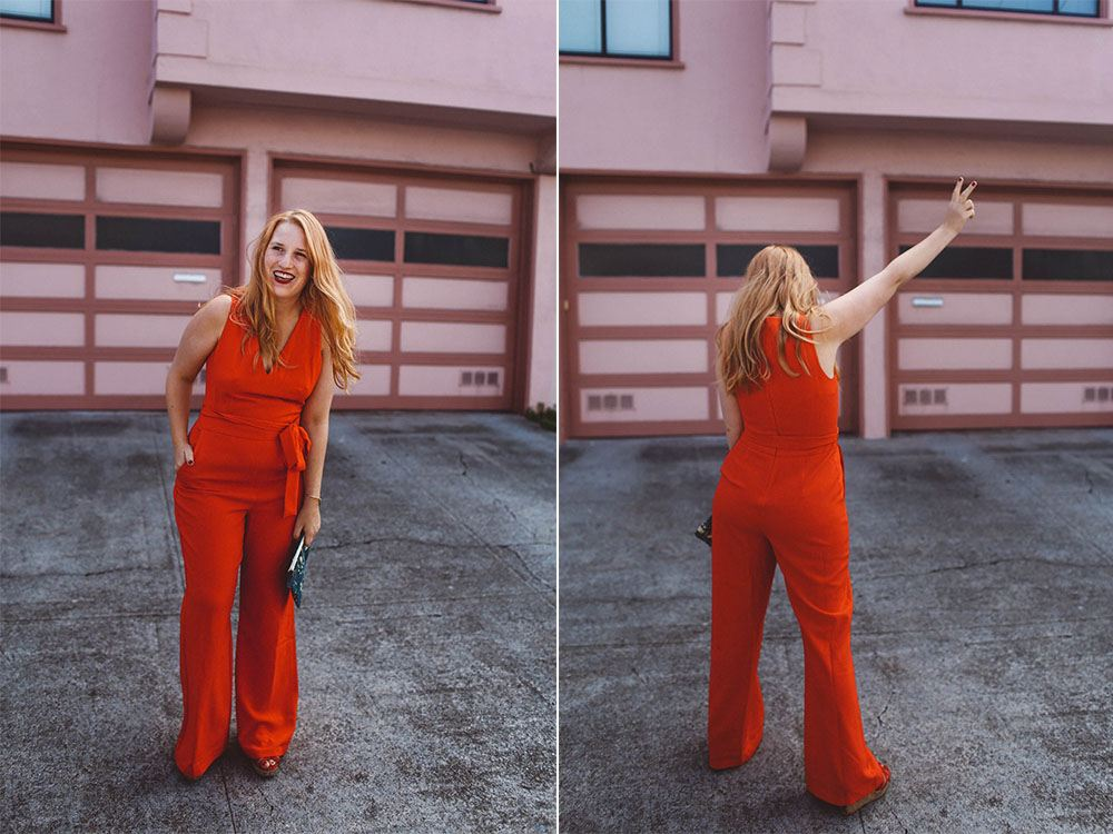 red jumpsuit from Nordstrom Anniversary Sale 2017