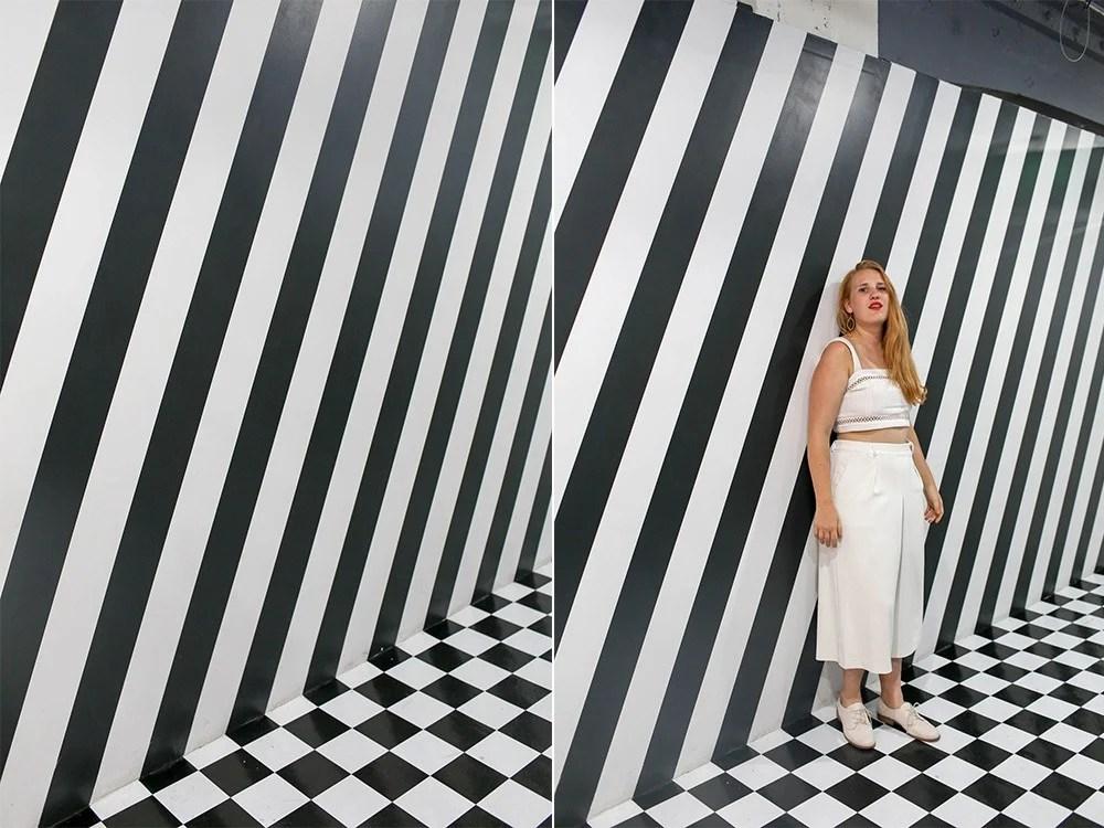 Color Factory black white room san francisco