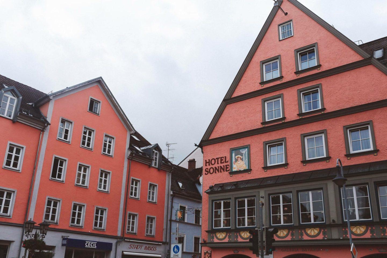 Füssen, Germany pink house