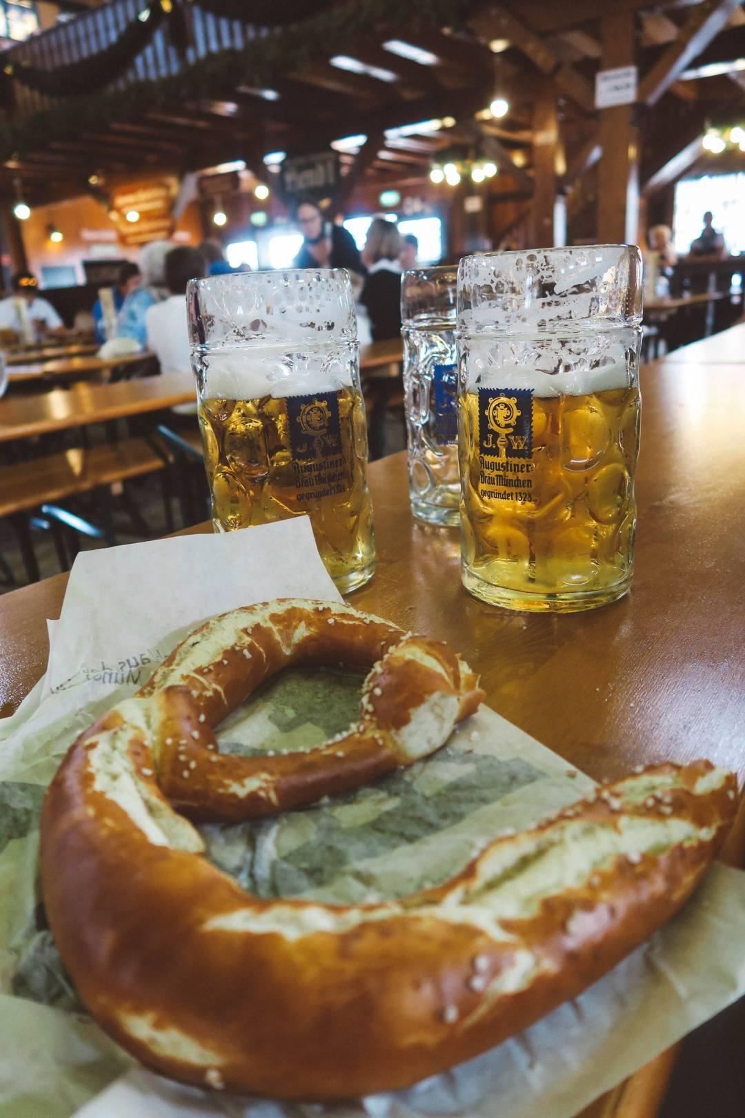 Oktoberfest Munich augustiner pretzel