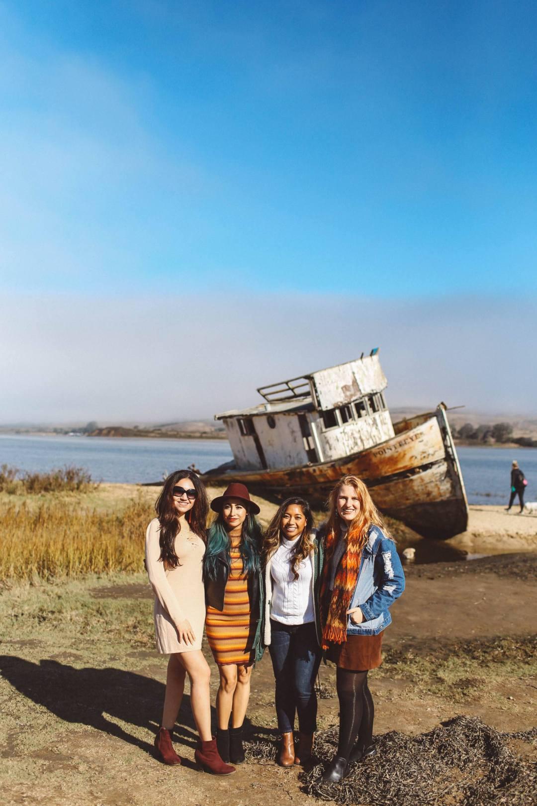 Point Reyes shipwreck group women