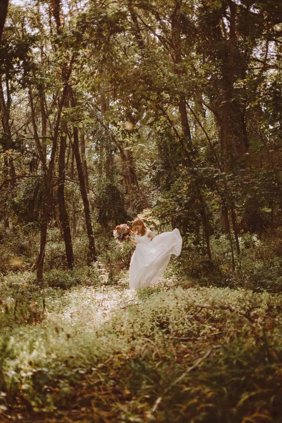 woods bride wedding
