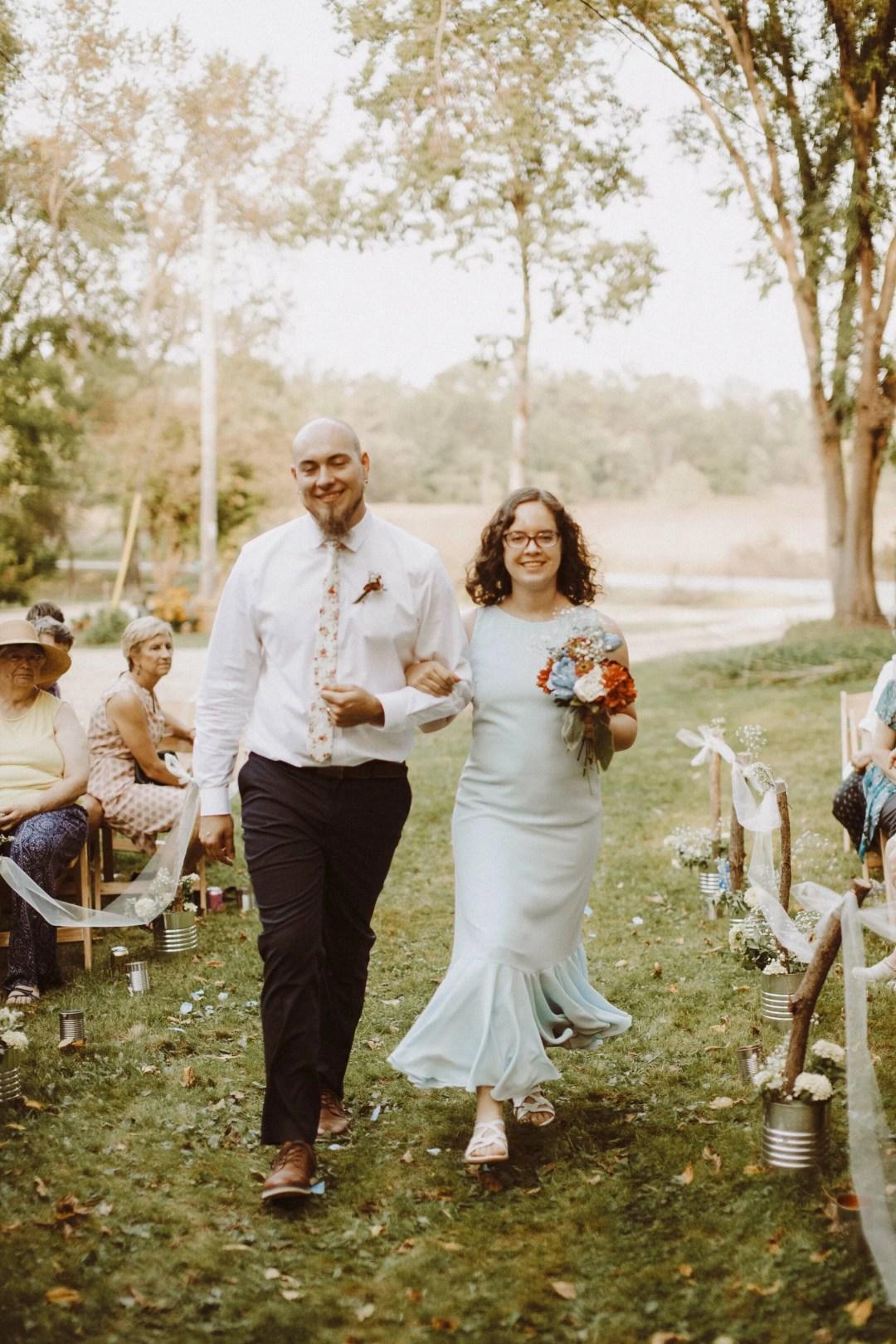 bridesmaid dress blue country wedding