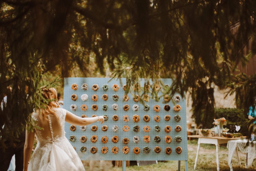 wedding donut wall bride boho