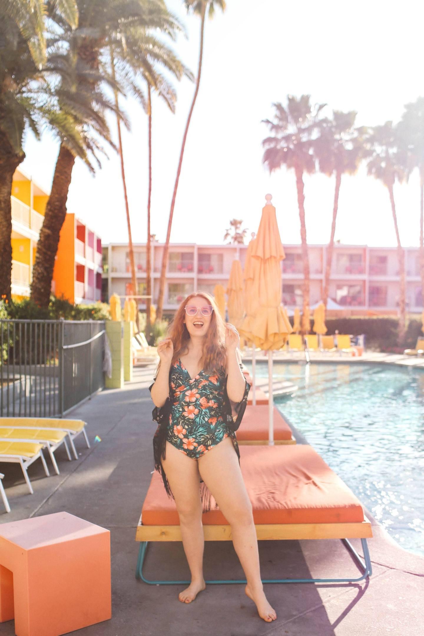 palm springs hotel pool saguaro