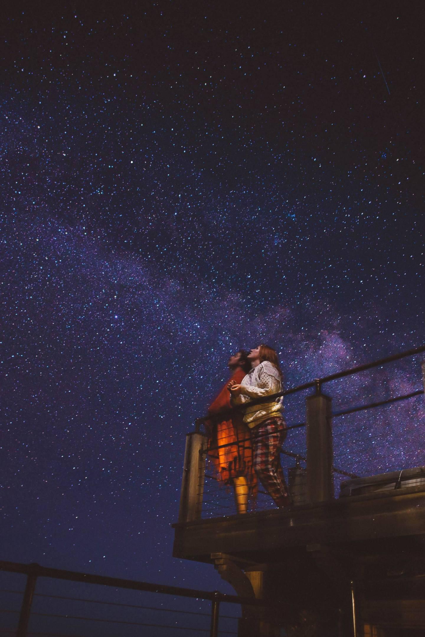 starry night long exposure