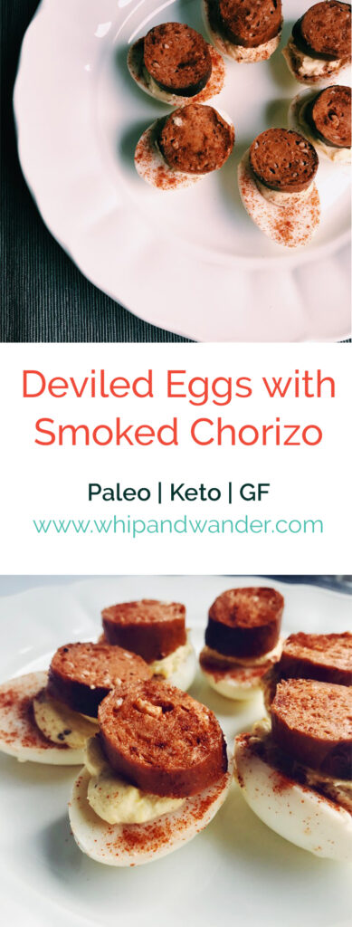 Deviled Eggs with Smoked Chorizo