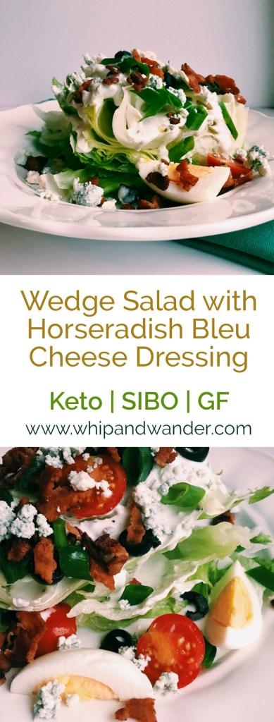 Wedge Salad with Horseradish Bleu Cheese Dressing