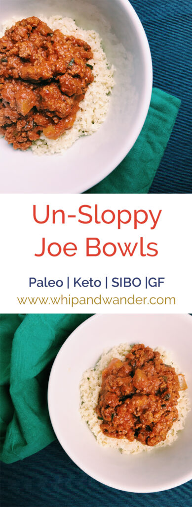 Un-Sloppy Joe Bowls