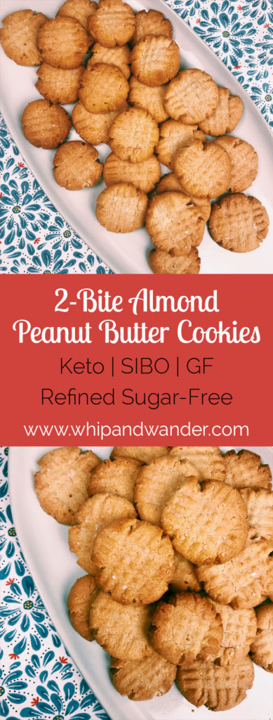 almond peanut butter cookies