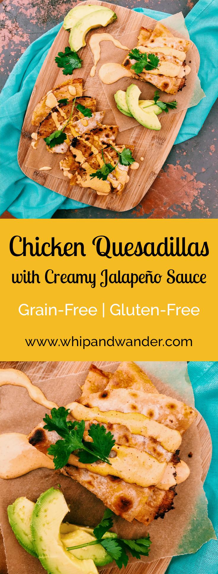 Grain-Free Chicken Quesadillas