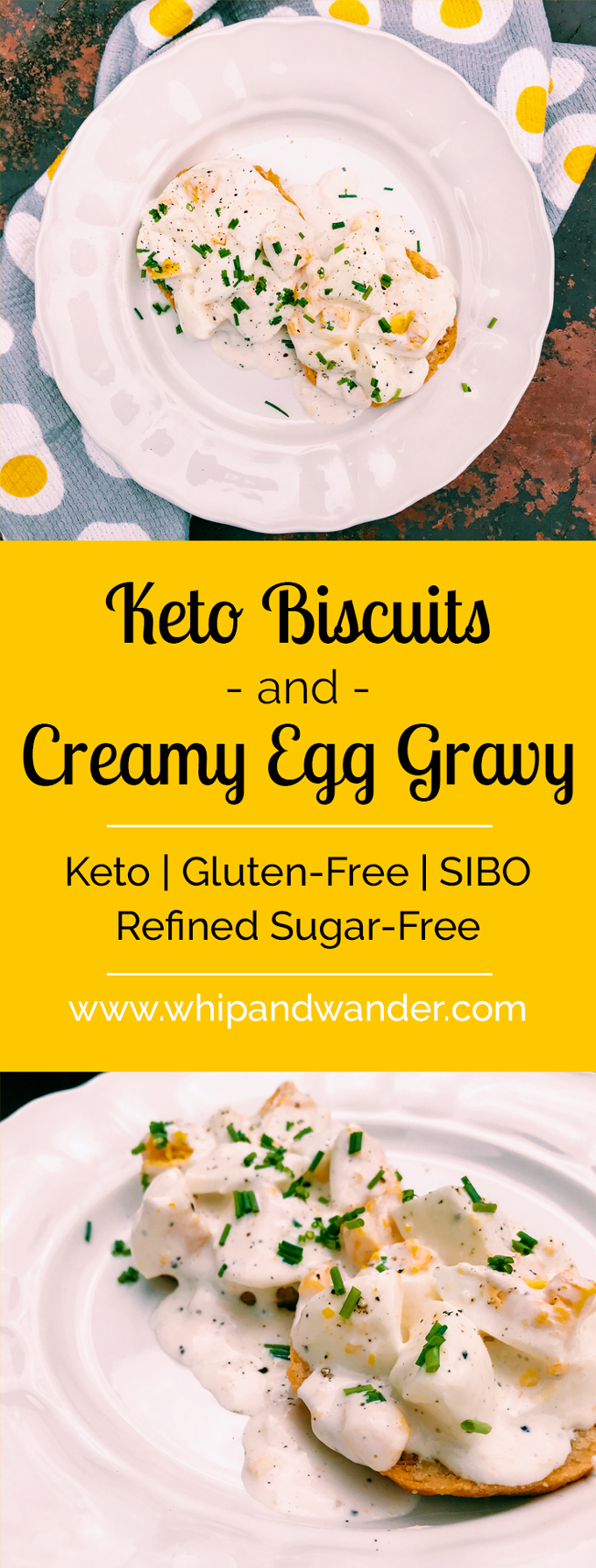 Keto Biscuits and Creamy Egg Gravy