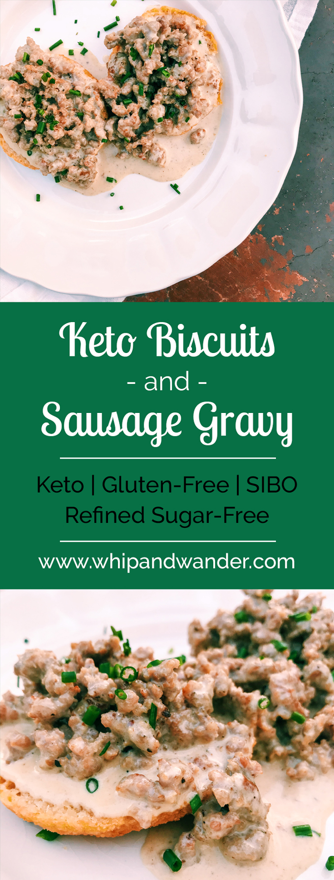 Keto Biscuits and Sausage Gravy