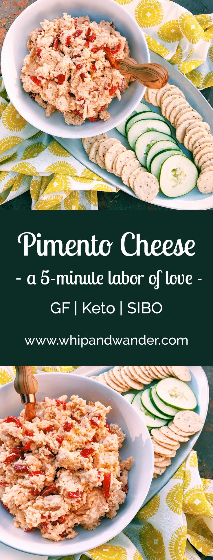5 minute pimento cheese