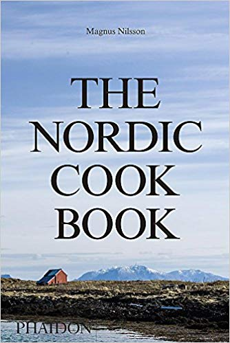 a nordic landscape with the nordic cookbook types across the front