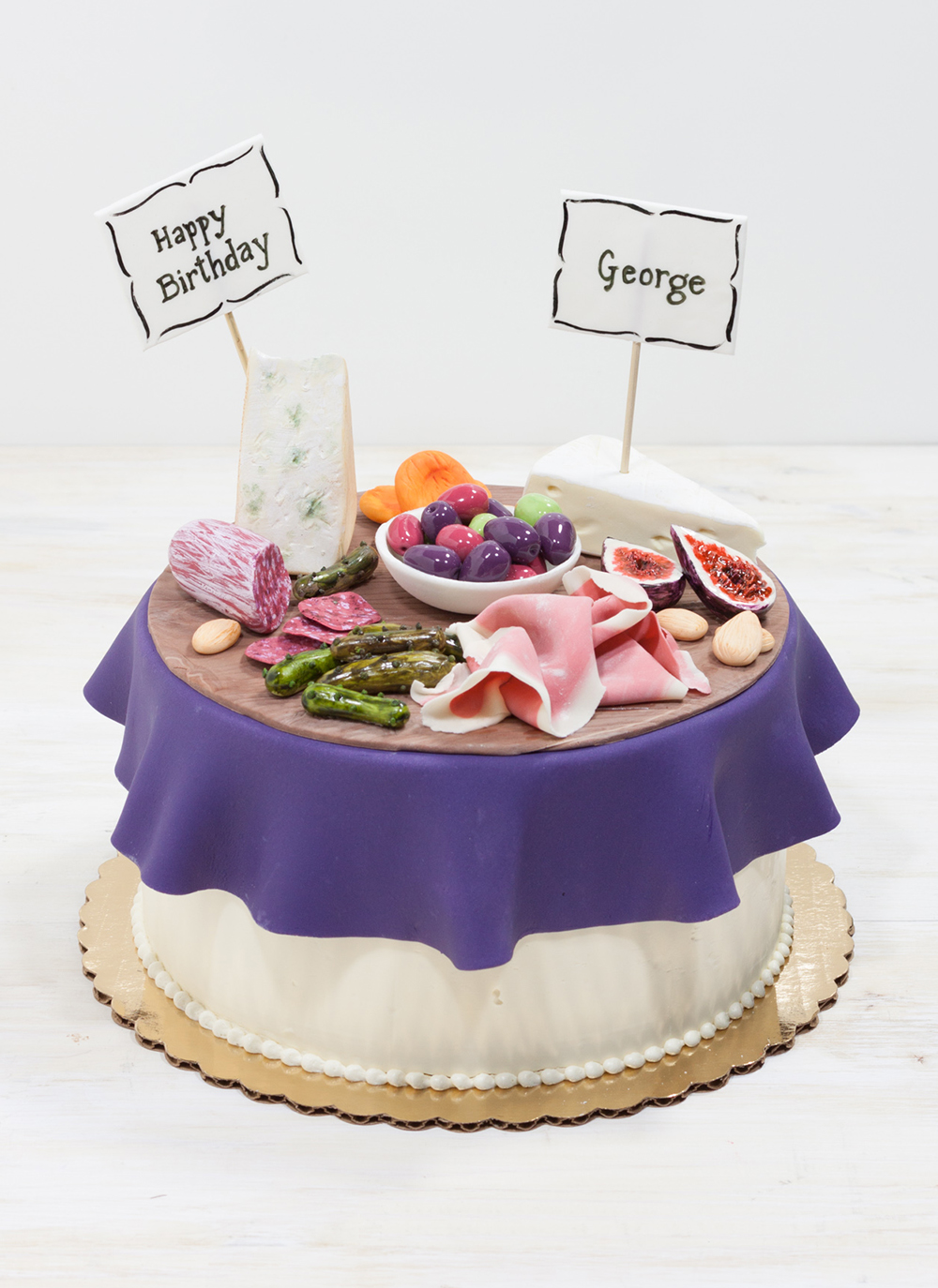 Meats And Cheeses Birthday Cake Whipped Bakeshop Philadelphia